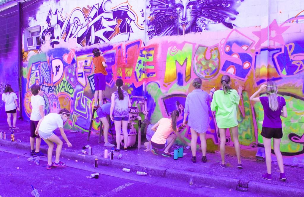 muurschilderen groep 8