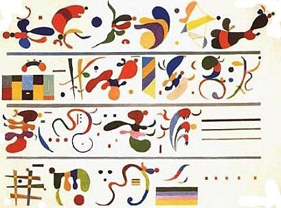 kandinsky speelt met muziek