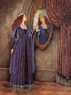voor de spiegel...